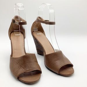 Leather Joie wedge shoes